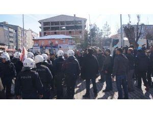Kağızman'da Olaylı Basın Açıklaması