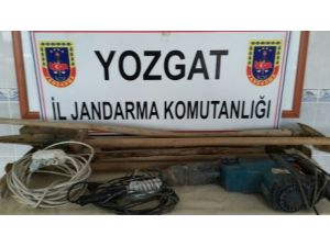 Yozgat Jandarma Kaçak Kazı Yapan 13 Kişiyi Yakaladı
