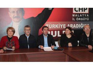 CHP Malatya İl Başkanı Kiraz'dan AK Parti'ye Eleştiri