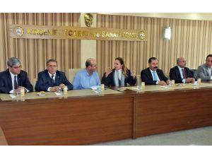 CHP heyetinden Kırşehir TSO'ya ziyaret