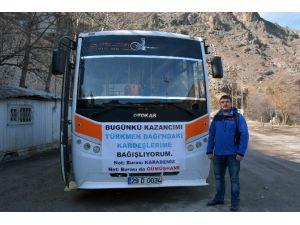 Bir Günlük Gelirini Bayırbucak Türkmenlerine Bağışladı
