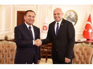 Bakan Bozdağ, Arnavutluk Adalet Bakanı Manjanı İle Görüştü