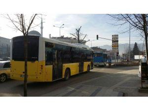 Düzce'de Gazlı Otobüs Seferde