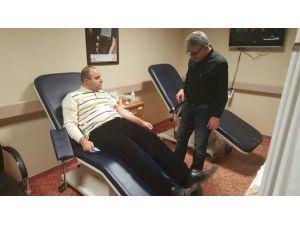 Kaymakam Kaya'dan, Kan İhtiyacı Olan Hastaya Kan Bağışı