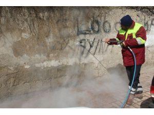 Elazığ'da Ki Duvar Yazıları Siliniyor