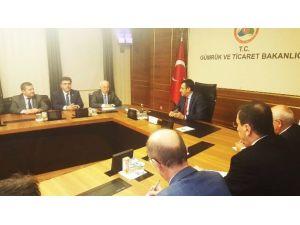 Kayseri Ticaret Odası Heyeti Gümrük Ve Ticaret Bakanı Tüfenkci'ye Üyelerin Taleplerini Aktardı