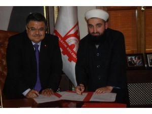 ''Ahlak Ve İnsan'' Projesi Protokolü İmzalandı
