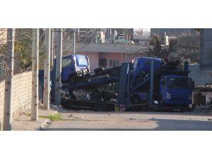 Nusaybin'de YPS üyeleri araç yüklü TIR'a el koydu