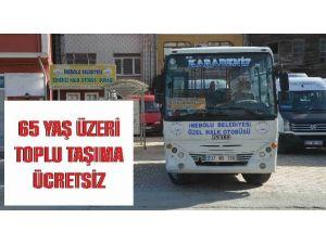 İnebolu'da 65 Yaş Ve Üzeri Vatandaşlara Ücretsiz Toplu Taşımadan Yararlanacak