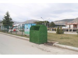 Amasya'da Çöp Konteynerleri Çimleniyor