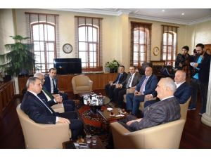 Judo Ve Boks Federasyonu Başkanları Başkan Yılmaz'ı Ziyaret Etti