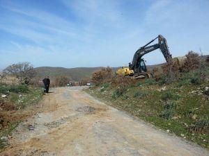 Gölmarmara-salihli Yol Genişletme Çalışmaları Başladı