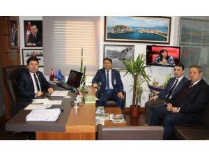 İl Başkanı Hüseyin Manav'dan Milletvekili Tunç'a Ziyaret