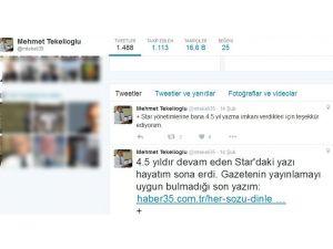 Star, Abdullah Gül'ün eniştesinin yazılarına son verdi
