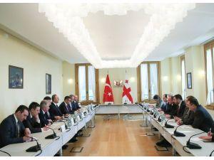 Gürcistan Cumhurbaşkanı Margvelashvili, Çavuşoğlu'nu kabul etti