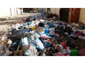 Cizre'de biriken çöpler temizleniyor