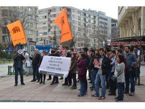 Halk Evleri Ankara'daki Patlamayı Protesto Etti