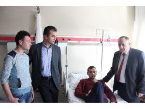 Başkanlardan Yaralı Türkmenlere Ziyaret
