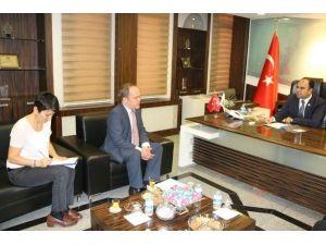 AB Türkiye Delegasyonu Siyasi İşler Müsteşarı Poupeau'yu Şanlıurfa'da