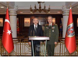 Kılıçdaroğlu'ndan Genelkurmay Başkanı Akar'a Taziye Ziyareti