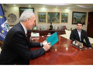 Sancak-der Ve Hayrat Vakfı'ndan Başkan Saraçoğlu'na Teşekkür Ziyareti