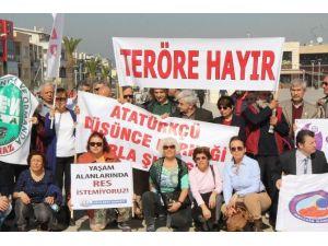 Urla'da Terör Ve Artvin Cerattepe Protestosu