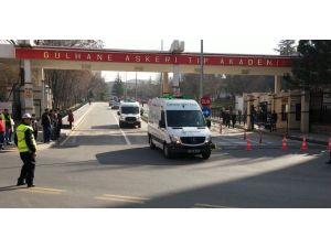Ankara saldırısı şehitleri cenaze araçlarıyla GATA'dan çıkarıldı