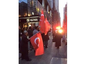 Ankara Saldırısı New York'ta Protesto Edildi