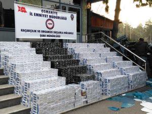 Kamyonda 28 bin 450 paket kaçak sigara yakalandı