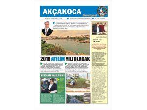 Akçakoca Belediyesi Gazetesi Yayınlandı