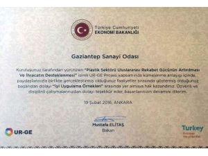 GSO'nun Urge Projesine Başarı Sertifikası