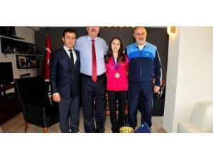 Avrupa Şampiyonu Yemenici'den Başkana Ziyaret