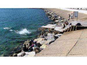 Bodrum Deniz Sezonun Erken Açtı
