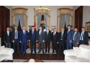 KAYSO'dan 11. Cumhurbaşkanı Gül'e taziye ziyareti