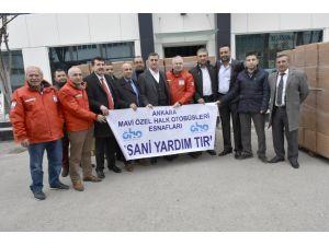 Halk otobüsçüleri, bir günlük gelirlerini Bayırbucak Türkmenleri'ne bağışladı
