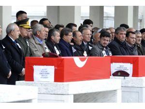 Sur'da şehit olan 2 asker Kocatepe Camii'nden uğurlandı