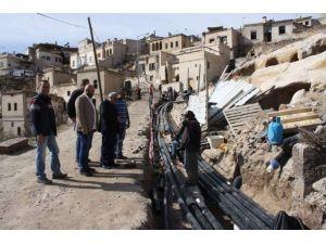Uçhisar Belediyesi, Aşağı Mahalle'de Altyapı Çalışmalarını Tamamlıyor