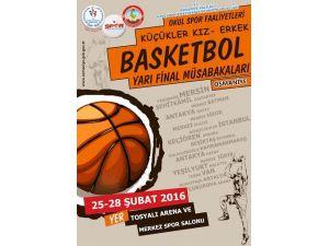 Ortaokullar arası basketbol yarı final müsabakaları Osmaniye'de yapılacak