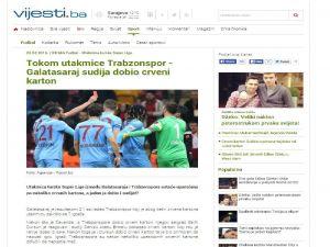 Salıh dursun'un kırmızı kartı Balkan medyasında geniş yer buldu