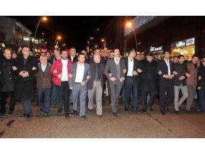 Erzurum'da 'Fırat Çakıroğlu' Ve Şehitler İçin Yürüdüler