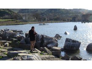 Antik kenti yine su bastı