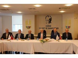 Edirne Vergi Dairesi Başkanlığından ETSO'ya Ziyaret