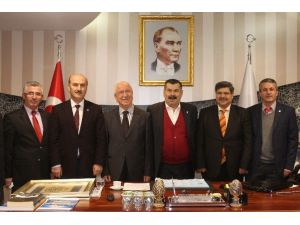 İhlas Vakfı Tekstilkent Yönetim Kurulu Başkanını Ziyaret Etti