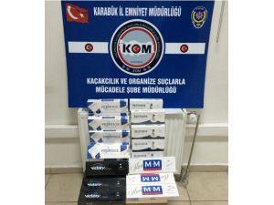 Karabük'te 437 Paket Kaçak Sigara Ele Geçirildi