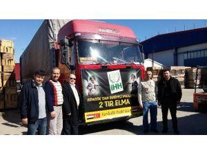 Suriyeli Göçmenlere 42 Ton Elma Yardımı