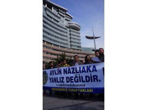 Ankaragücü taraftarlarından CHP'li Nazlıaka'ya destek eylemi