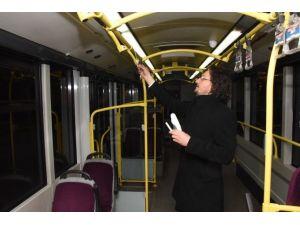 Otobüsler Dezenfekte Ediliyor