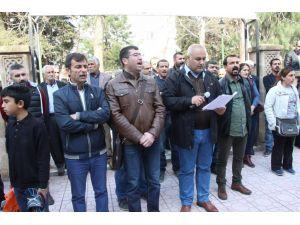 Nusaybin'de öğretmenlere adli ve idari soruşturmaya tepki