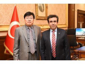 Vali Güzeloğlu, Posco Assan Tst Ceo'sunu Makamında Kabul Etti