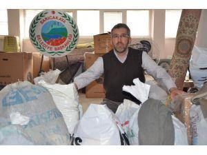 Sarıcakaya'da Türkmenlere Yardım Kampanyası Devam Ediyor